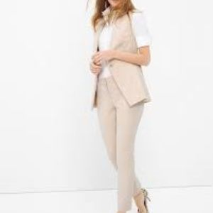 WHBM Long Collarless Suiting Vest